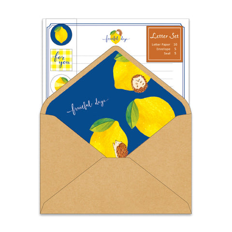 Mind Wave fruitful days letter set - Hedgehog and lemon 56801