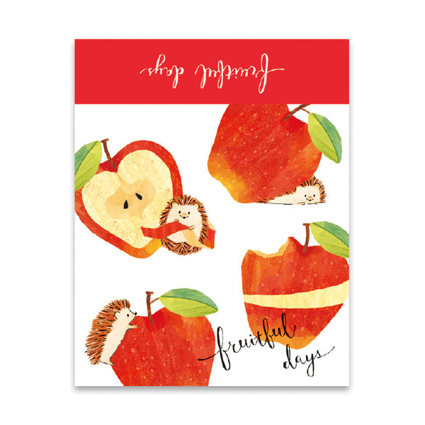Mind Wave fruitful days memo pad - Hedgehog and apple 56806