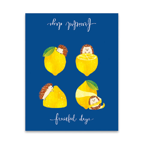 Mind Wave fruitful days memo pad - Hedgehog and lemon 56807
