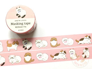 Papier Platz YOKO - Cat washi tape 37-877