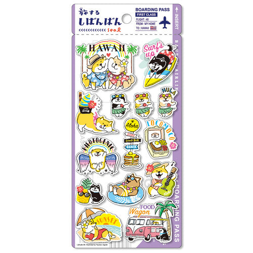 Mind Wave Shibanban travels around the world sticker - Hawaii 79429