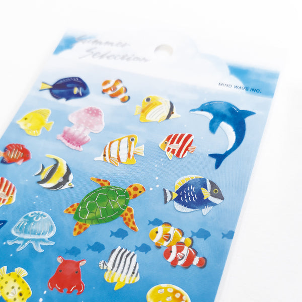 Mind Wave Summer selection - Under the sea silver foil sticker 80411