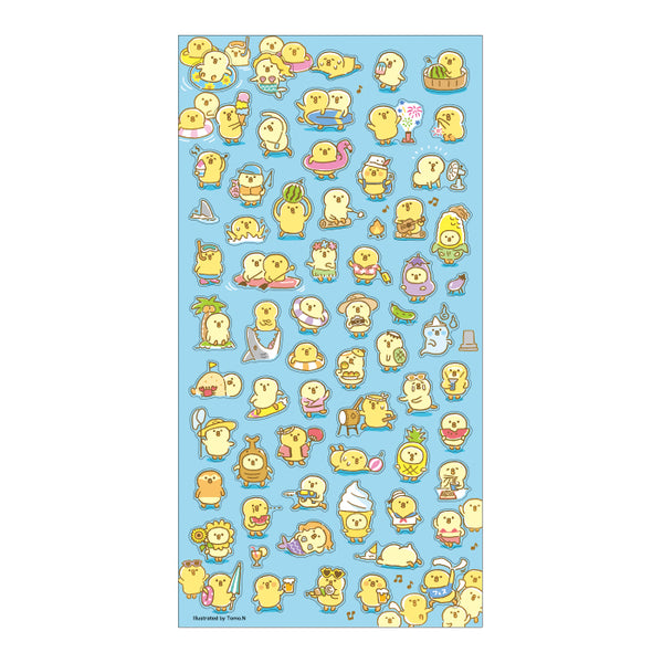 Mind Wave Summer selection - Piyokomame clear sticker 80424