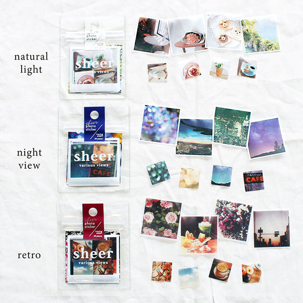 Mind Wave sheer photo sticker flakes - Retro