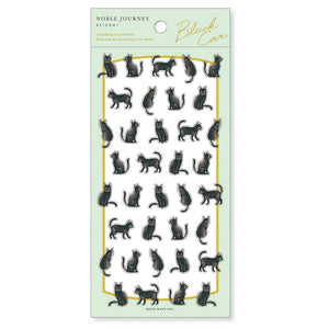 Mind Wave noble journey clear sticker - Black cat 80782