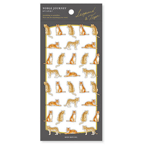 Mind Wave noble journey clear sticker - Leopard and tiger 80783