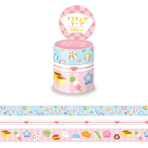 Mind Wave - Wagashi washi tape 3 rolls set 94869