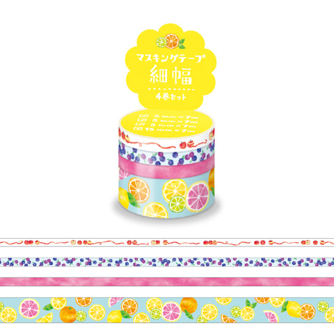 Mind Wave - Fruit washi tape set 94910