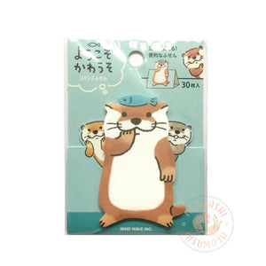 Mind Wave stand stick marker - Chubby otters sticky notes 56351