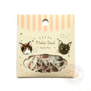 Papier Platz Yumi Imai washi sticker flakes - Cat 37-868