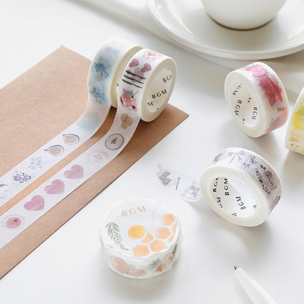 BGM honey and orange washi tape