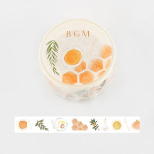 BGM honey and orange washi tape BM-LA053