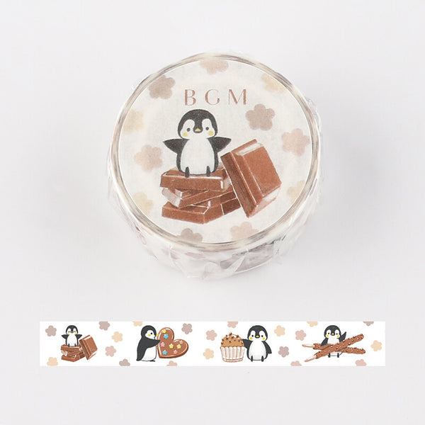 BGM penguin and chocolate washi tape BM-LA064
