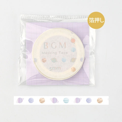 BGM skinny foil washi tape - Planet BM-LSG024