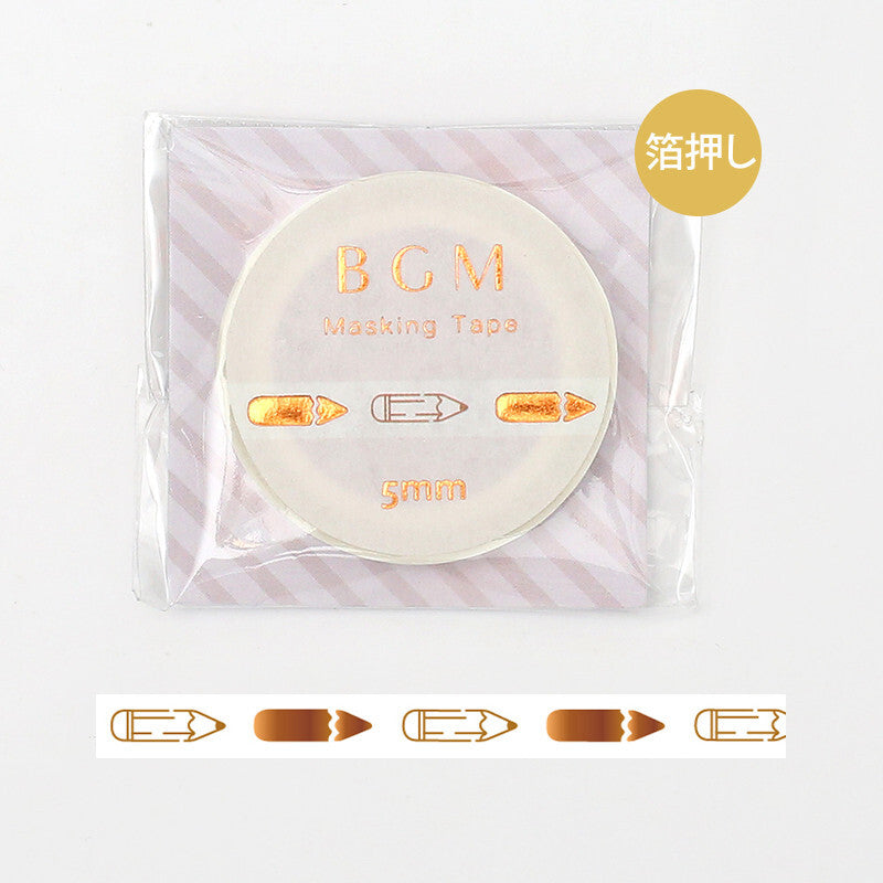 BGM skinny foil washi tape - Pencil BM-LSG029