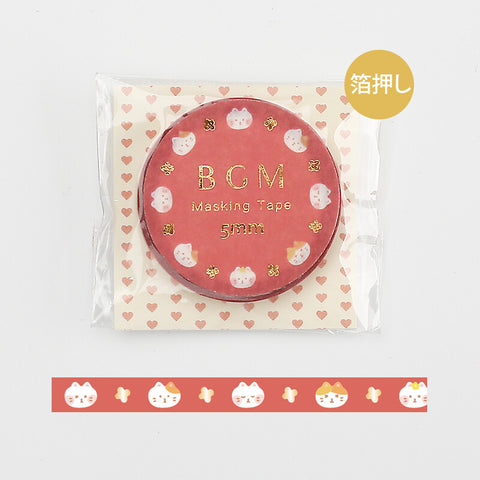 BGM skinny foil washi tape - Cat BM-LSG052