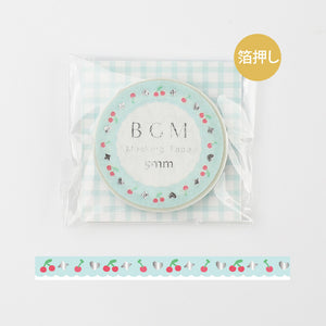 BGM skinny foil washi tape - Blue lace BM-LSG059