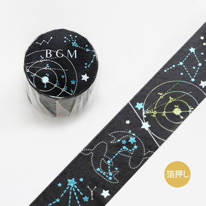BGM double color foil washi tape - Constellation BM-SPKY006