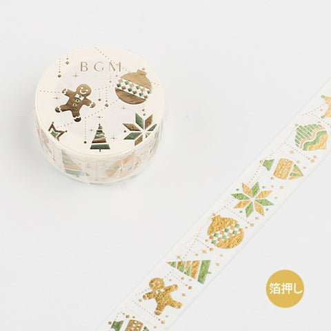 BGM Christmas foil washi tape - Ornament BM-SPLM001