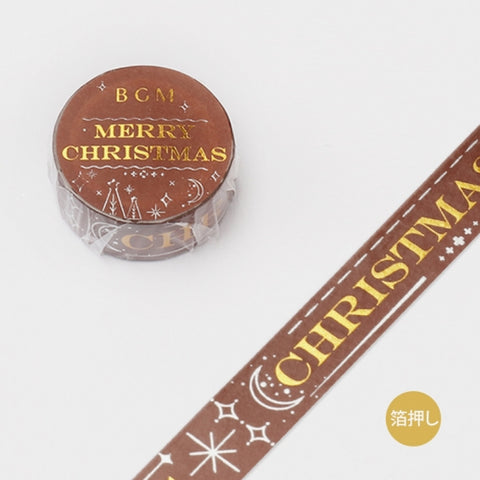 BGM Christmas foil washi tape - Christmas