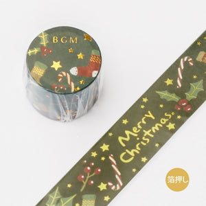 BGM Christmas gold foil washi tape - Merry Christmas BM-SPLM005