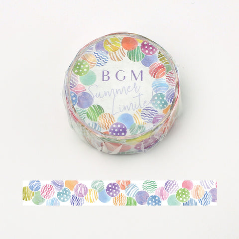 BGM Summer limited edition washi tape - Water balloon BM-SPLN012