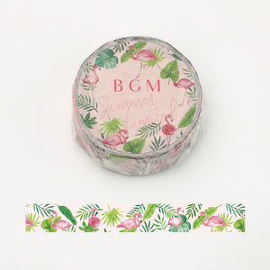 BGM Summer limited edition washi tape - Flamingo BM-SPLN014