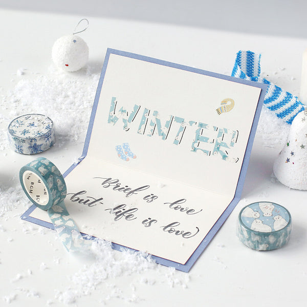 BGM winter washi tape - Mountain