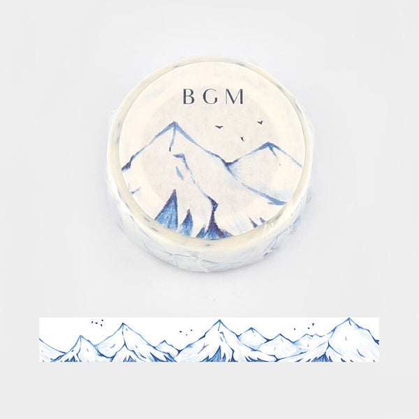 BGM winter washi tape - Mountain BM-SPLW008