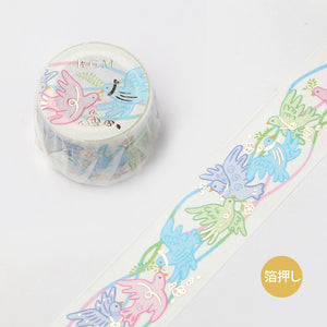 BGM lace foil washi tape - Bird BM-SPRS001