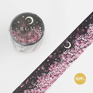 BGM silver foil washi tape - Moonlight sakura BM-SPSA021
