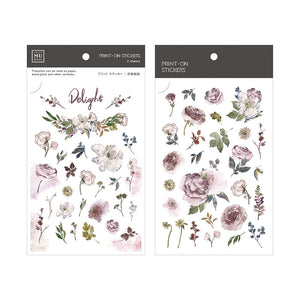 MU print-on sticker - Lilac roses BPOP-001065