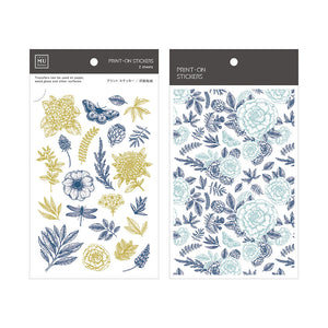MU print-on sticker - Herbal Flowers BPOP-001051