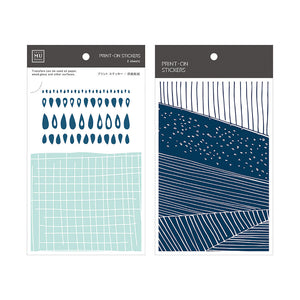 MU print-on sticker - Mint and blue BPOP-001057