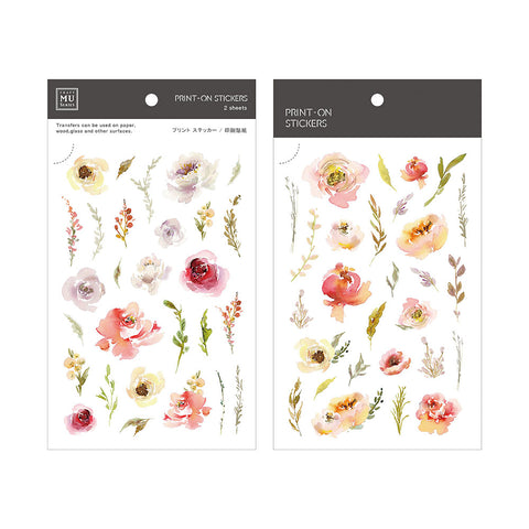 MU print-on sticker - Peony BPOP-001073