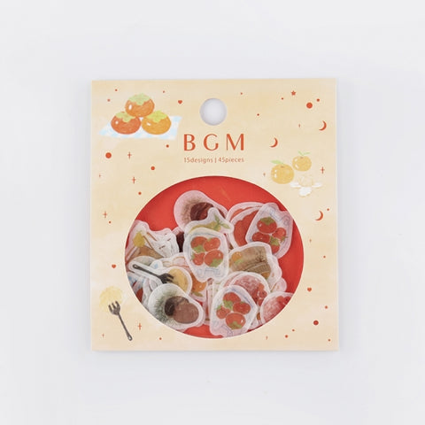 BGM washi sticker flakes - Fruits BS-FF018