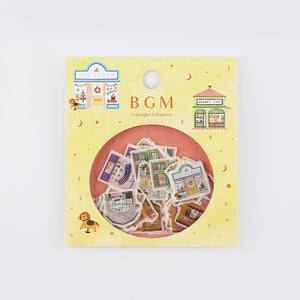 BGM washi sticker flakes - Storefront BS-FF019