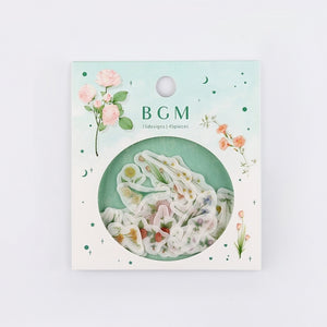 BGM washi sticker flakes - Flowers BS-FF020