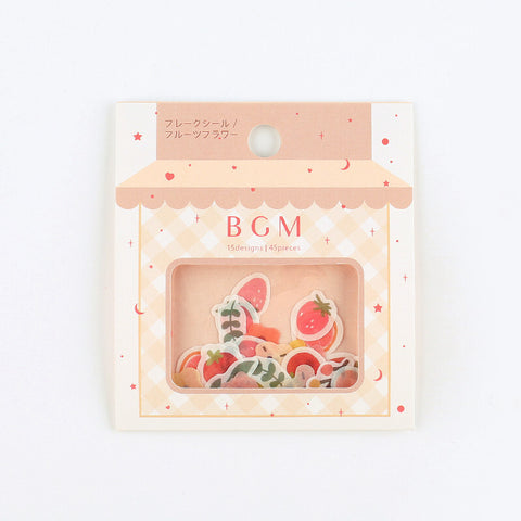 BGM washi sticker flakes - Flower and fruit BS-FF021
