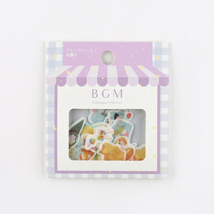 BGM washi sticker flakes - Wagashi BS-FF022