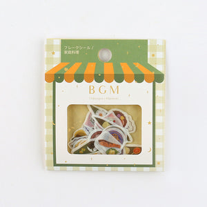 BGM washi sticker flakes - Japanese cuisine BS-FF023