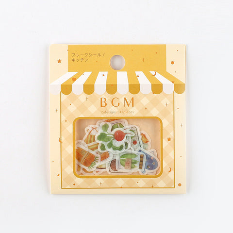 BGM washi sticker flakes - Kitchen BS-FF024