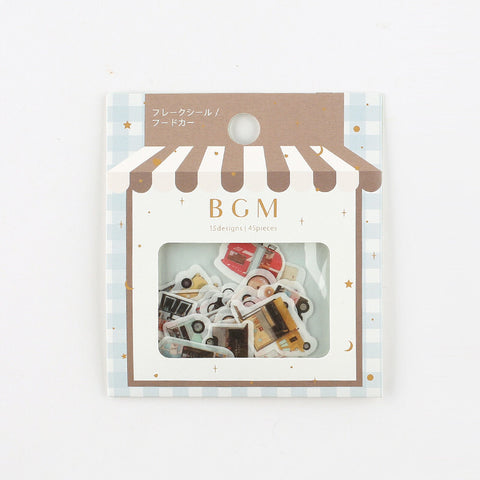 BGM washi sticker flakes - Food truck BS-FF025