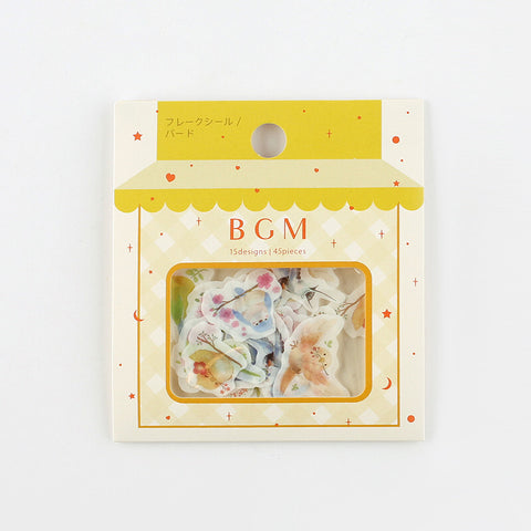 BGM washi sticker flakes - Bird BS-FF026