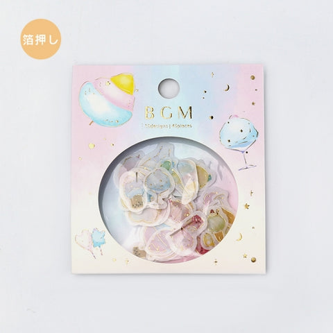 BGM gold foil washi sticker flakes - Cotton candy BS-FG042