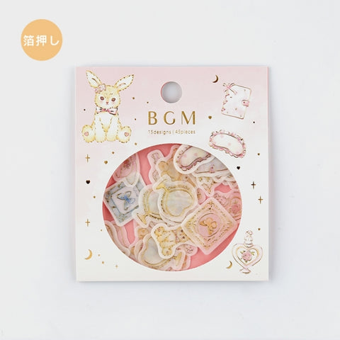 BGM gold foil washi sticker flakes - Girls room BS-FG048