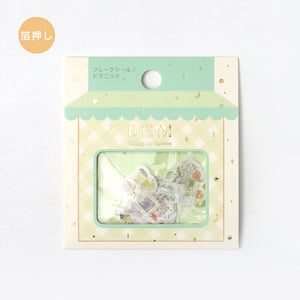 BGM gold foil washi sticker flakes - Picnic BS-FG049
