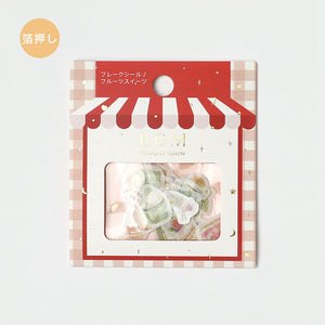 BGM gold foil washi sticker flakes - Desserts BS-FG050