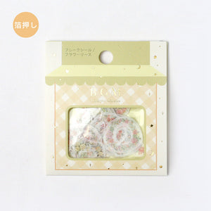 BGM gold foil washi sticker flakes - Floral wreath BS-FG053