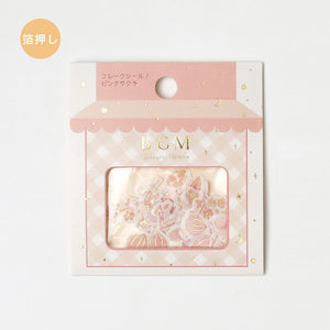 BGM gold foil washi sticker flakes - Sakura BS-FG054